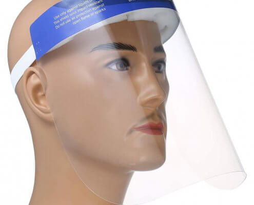 Head-Loop Clear Face Shield